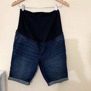 Ingrid Isabel Maternity Denim Jean Bermuda Shorts